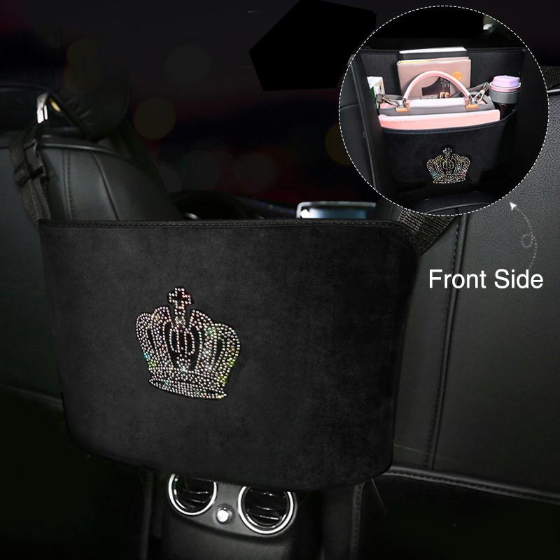 Diamond-Crown-Car-Storage-Bag-Hanging-Rhinestone-Auto-Organizer-Pocket-Barrier-of-Backseat-Holder-11