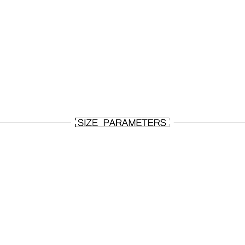 SIZE PARAMETERS