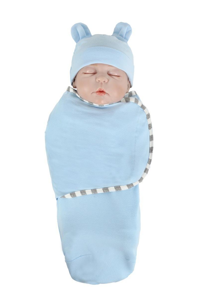 2pcs-set-0-3-Months-Newborn-Wrapping-Swaddle-Anti-shock-Baby-Wrap-Blanket-Baby-Hat-Sleeping (4)