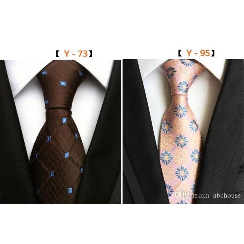 216 Styles 8cm Men Silk Ties Fashion Mens Neck Ties Handmade Wedding Tie Business Ties England Paisley Tie Stripes Plaids Dots Necktie