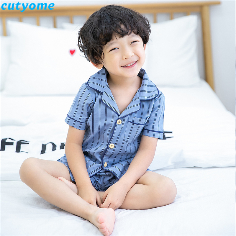 korean fashion toddler kids striped pajamas set03
