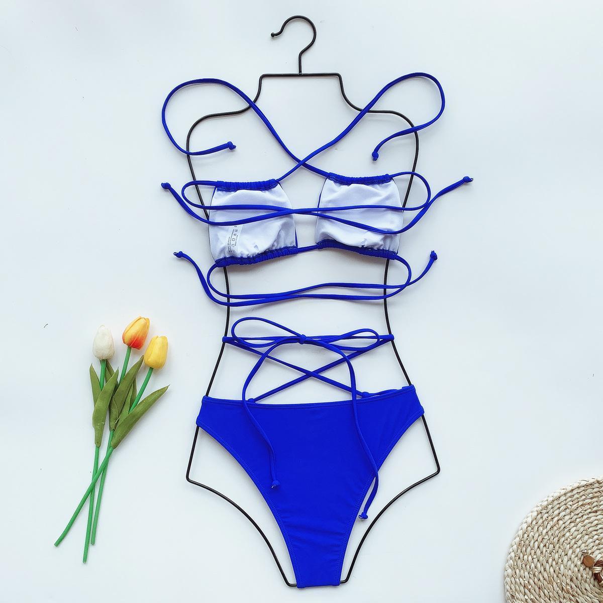 New Swimsuit Leopard Print Solid Bikini Strap Swimsuit Swimsuit for Women Bathing Suit Sexy Women Beachwear Hot Sale