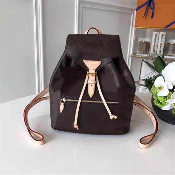 Handbag fashion bags Backpack lady Palm Springs genuine leather bags with letters lady leather backpack handbags