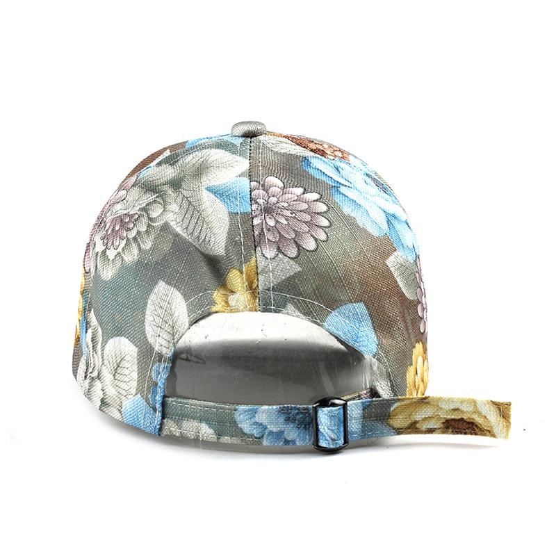 FBXYL Baseball Cap Flowers Cotton Hats Women Caps Hats Floral Embroidery Bone