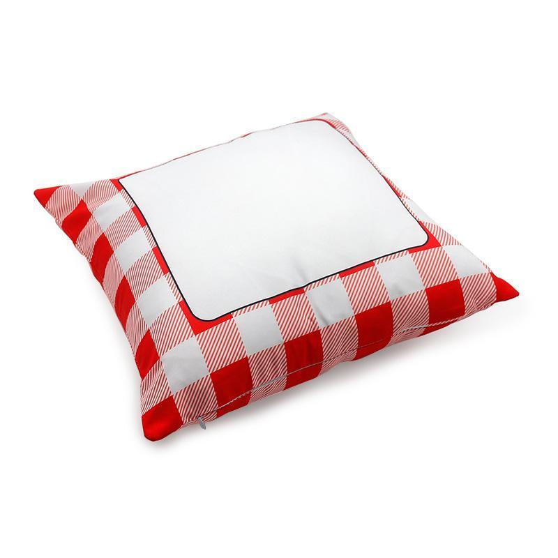 Sublimation grid Pillow case Blank white Pillow Cushion Covers Polyester heat transfer Square Throw Pillowcase for Bench Couch Sofa 40*40cm
