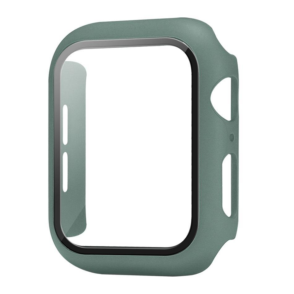 Colorful PC Silicone Bumper Case for Watch Series 1 2 3 4 Full Protection Covers 38mm 40mm 42mm 44mm Watchband Accessories In OPP/Retail Box