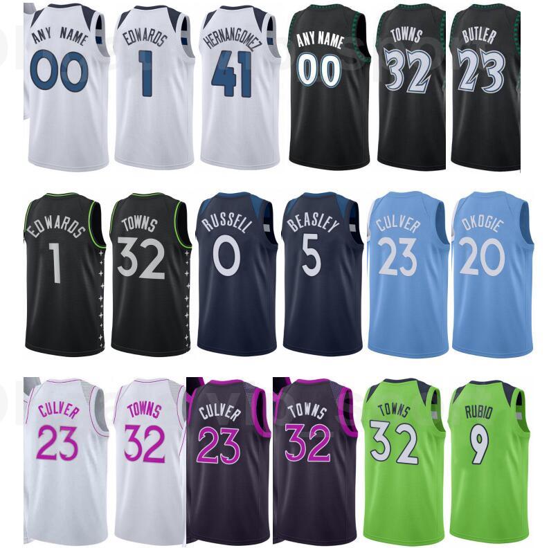 Print Basketball Jake Layman Jersey 10 Jaden McDaniels 3 Juancho Hernangomez 41 Ricky Rubio 9 Josh Okogie 20 Naz Reid City Earned Edition