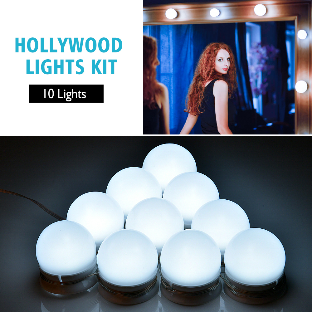 Makeup Mirror Vanity LED Light Bulb Hollywood Dimmable Mirror Light Makeup Vanity Table Set for Dressing Room Without Mirror (5)