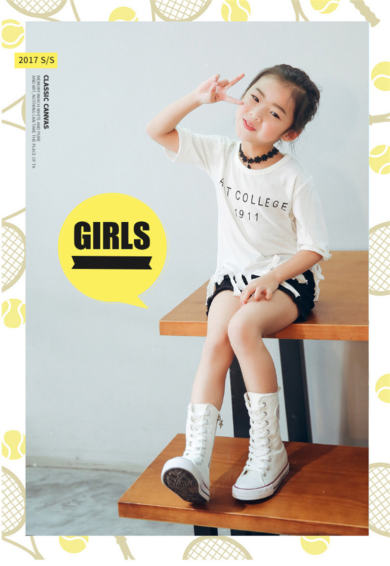 PINSEN 2019 Spring Autumn Shoes Girls Boots Cancas Childen Shoes For Girl Breathable Kids Boots For Girls Fashion Boots (1)