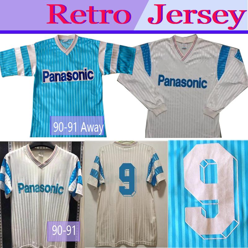 MARSEILLE 1990 1991 HOME  RETRO VINTAGE MAILLOT Camiseta Vintage BLACK FRIDAY