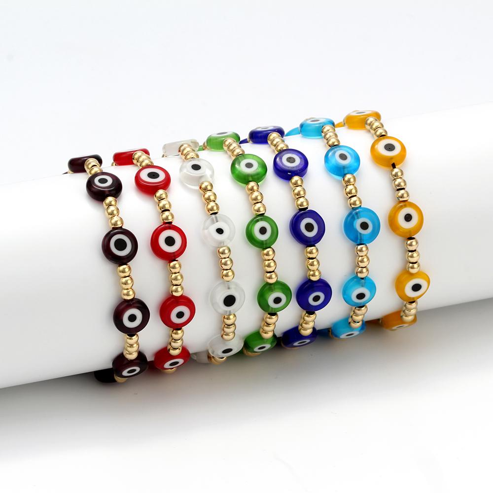 Turkish Evil Eye Bracelet Women Summer Pulseras Mujer Moda Bracelets Jewelry Multicolor stackable Rope Adjustable Handmade