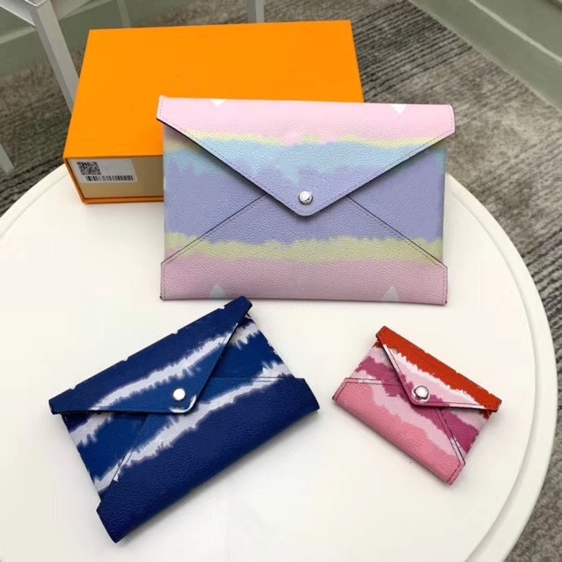 ESCALE POCHETTE KIRIGAMI 69119 Summer 2020 Collection 3 Envelope Style Pouches Tie Dye Effect Coated Canvas L Tablet M Passport S Cards