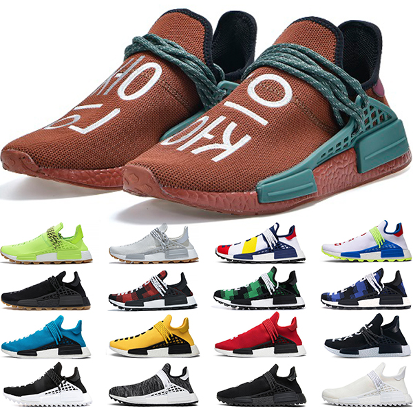 DHgate coupon: NMD Human Race Running Shoes Pharrell Williams HU Extr Eye White Black Yellow Red Grey Mens Womens Sports Sneakers Size 36-47