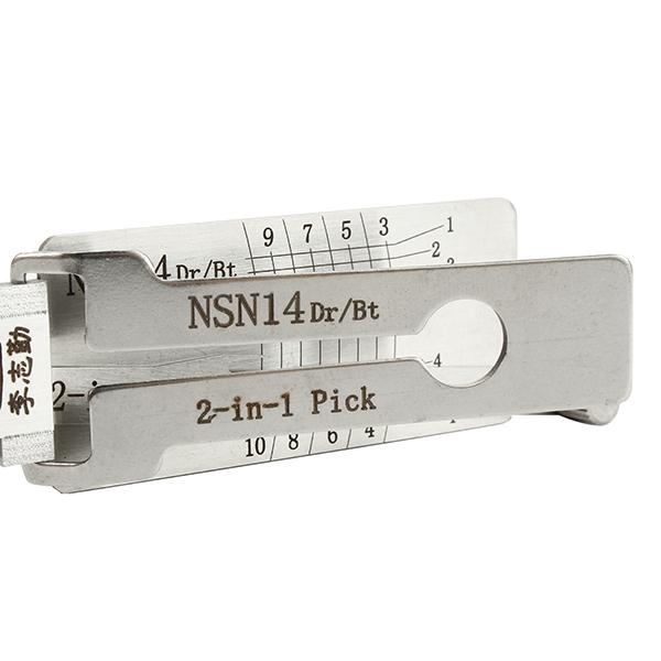DANIU NSN14 Dr/Bt 2 in 1 Car Door Lock Pick Decoder Unlock Tool Locksmith Tools