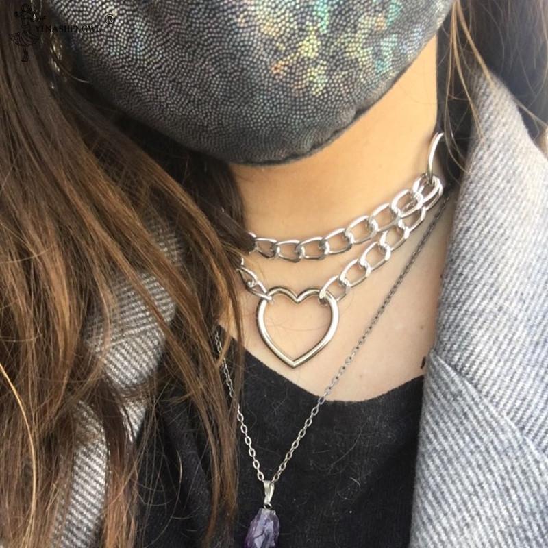 Estilo Vintage Oro Cristal Skull Collar De Flores Punk Goth