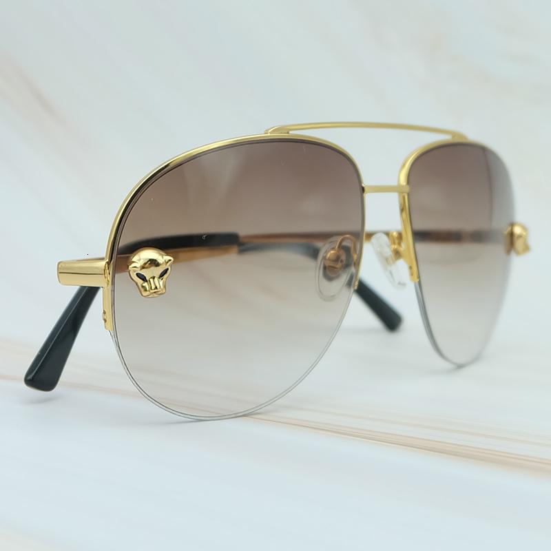 Metal Frame Luxury Carter Leopard Serious Mens Sunglasses Outdoor Driving Shades Leisure Brand Designer Sun Glass (2)