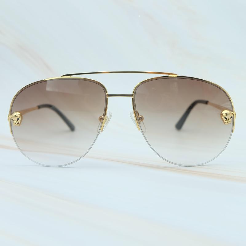 Metal Frame Luxury Carter Leopard Serious Mens Sunglasses Outdoor Driving Shades Leisure Brand Designer Sun Glass (5)