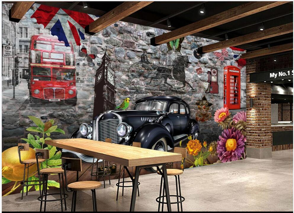 8x8FT Vinyl Wall Photography Backdrop,Cars,Classical Veteran Vehicle Background for Baby Birthday Party Wedding Graduation Home Decoration
