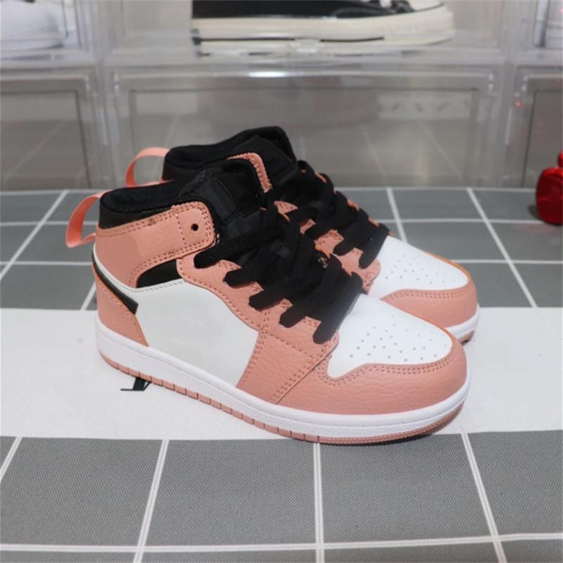 Hot selling kids shoes OG 1 1s Basketball Shoes Children Boy Girl 1 Top 3 Bred Black Red White Sneakers Size 26-35