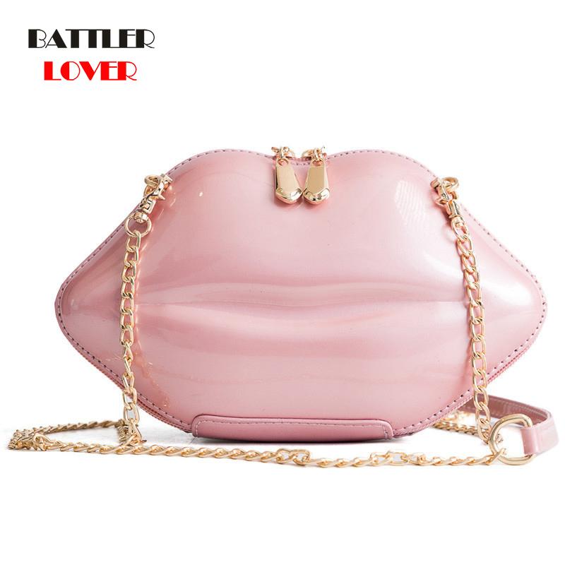 2020 Female Crossbody Bag Features Mouth Shape Design Clutch Bag Women