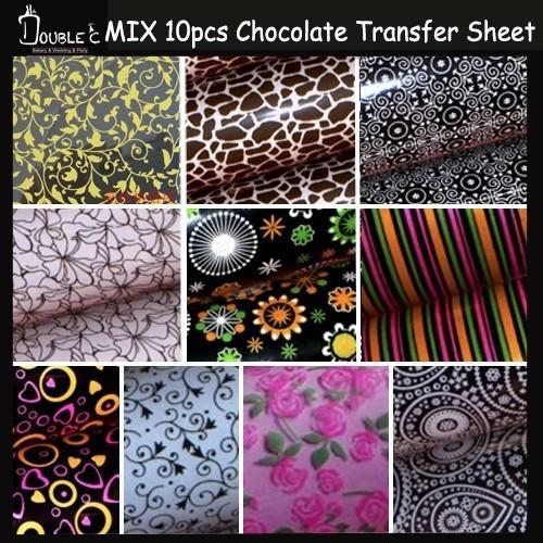 chocolate transfer sheet mix