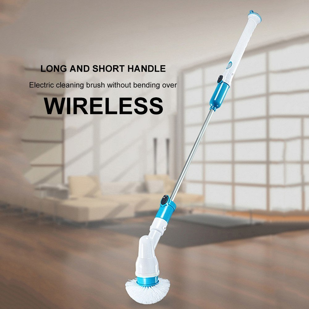 Household Bathroom Electric Brush For Cleaning Tools Home Turbo Scrub Brush Spin Scrubber Long Handle Multi-function Wireless