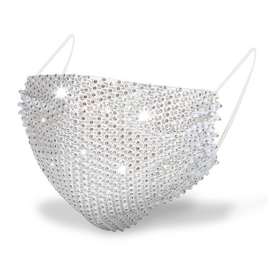 face mask 2021 New fashion bling diamond masks designer men women mouth masks with drill mask summer decoration rhinestone facemask Hot