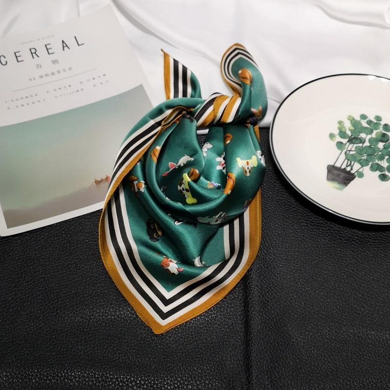 2019-Luxury-Women-Silk-Scarf-For-Hair-Fashion-Kerchief-Cartoon-Print-Bag-Scarfs-Female-53-53cm (1)