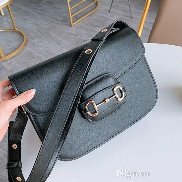New Retro Saddle Handbag Insert Buckle Genuine Leather Bag Shoulder Messenger Bag Flap Crossbody Bag Strap Shoulder Handbag tote bags purse