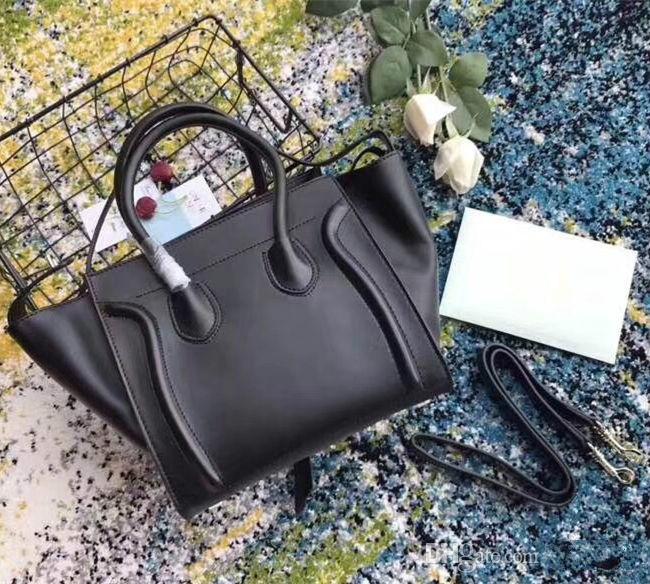 Classic luxury Ladies Trapeze Casual Tote Handbag Real Cowhide Leather Designer Shoulder Bat Bag With Wrist Purse Bag Boston Handbag