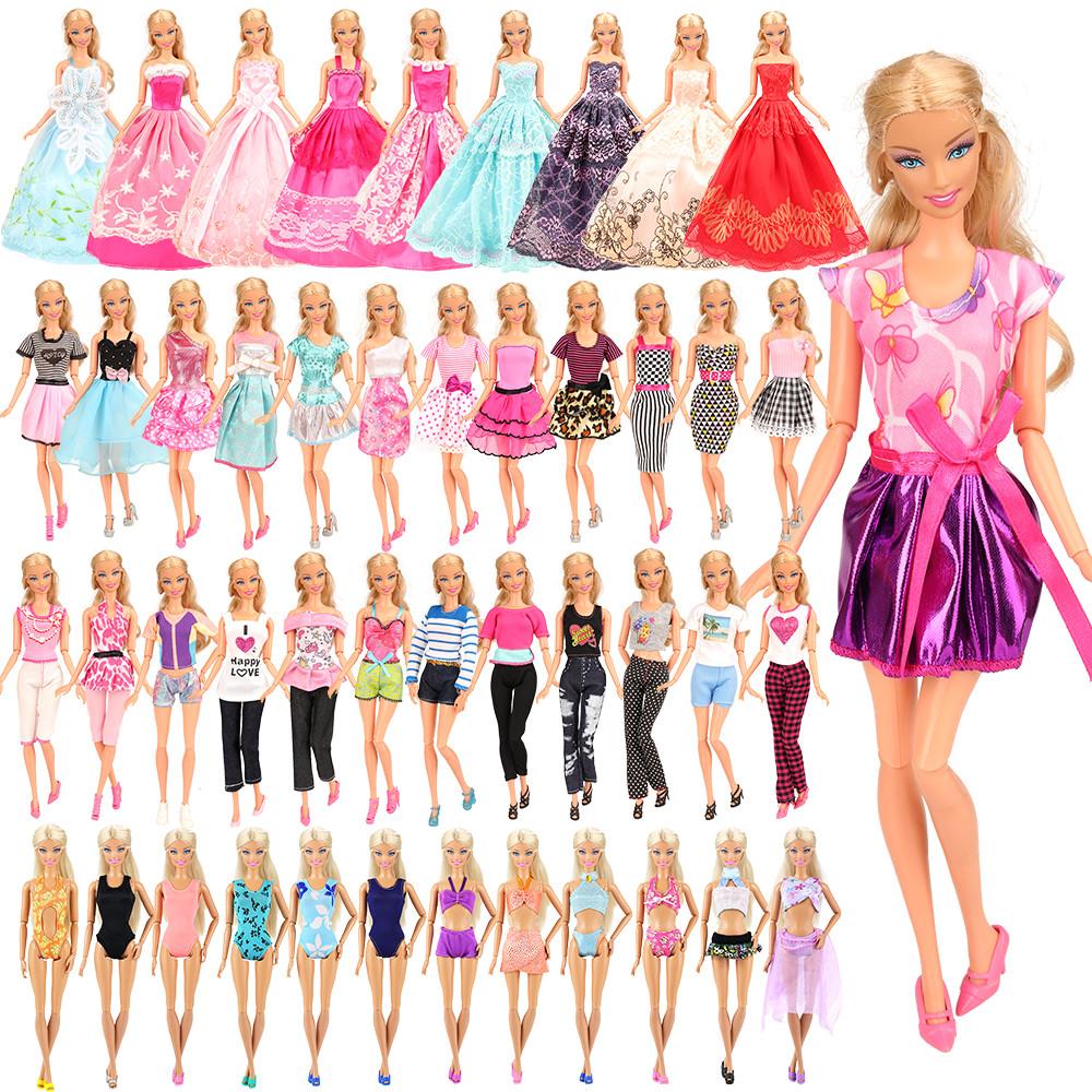 Nova Boneca Barbie Roupa De Qualidade Fantasia Vestido Longo Paetês