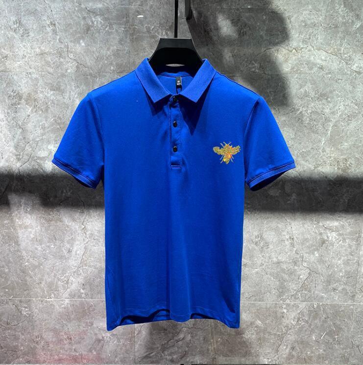 polo shirt High quality new summer casual Diamond stone men's polo Hot drill polo shirt 02
