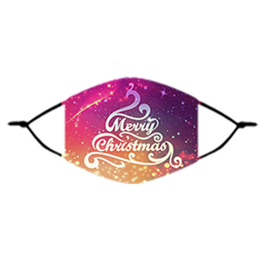 designer mask Christmas face mask designer Kids Christmas text cover printing mouth mask men woemn can insert filter facemask for children
