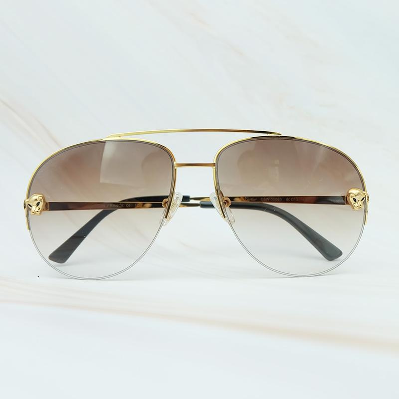 Metal Frame Luxury Carter Leopard Serious Mens Sunglasses Outdoor Driving Shades Leisure Brand Designer Sun Glass (1)