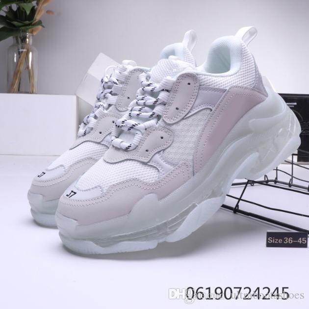 Hot!!2020 Fashion Paris 17FW Triple-S Sneakers Triple S Casual Dad Shoes for Mens Women Beige Black Ceahp Sports Designer Shoe Size 36-45