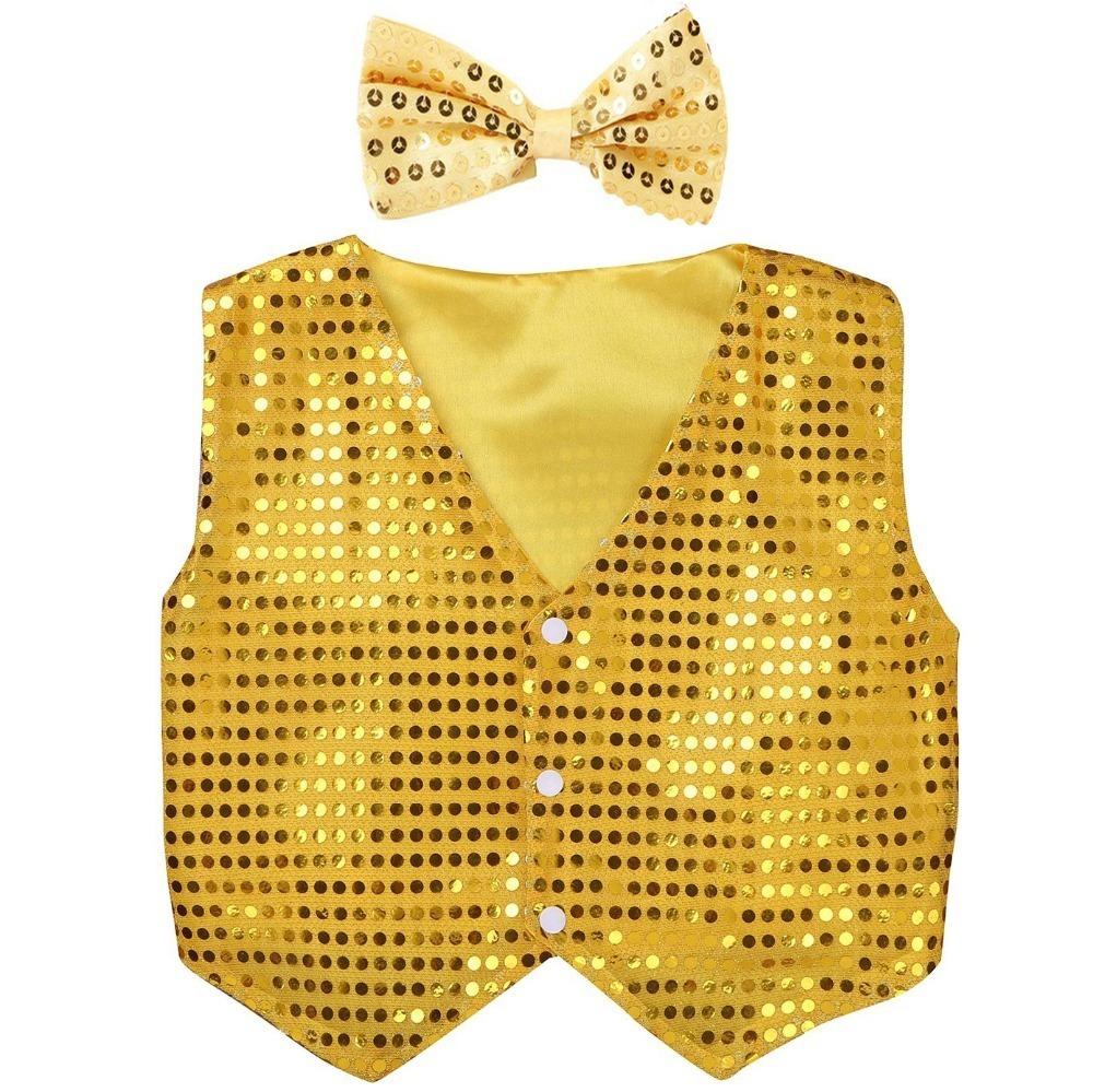 yellow sequins vest (3)