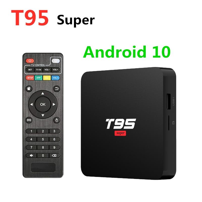 Android 10 T95 Super Smart TV Box Set Top Allwinner H3 GPU G31 2G 16G WiFi Wireless 4K HD Media Player X96Q