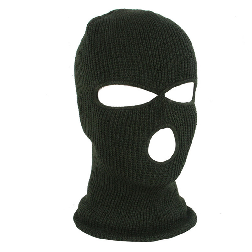 Full Face Mask Ski Mask Winter facemask Cap Balaclava Hood Army Tactical Mask 3 Hole cycling winter mask #4n26 (2)