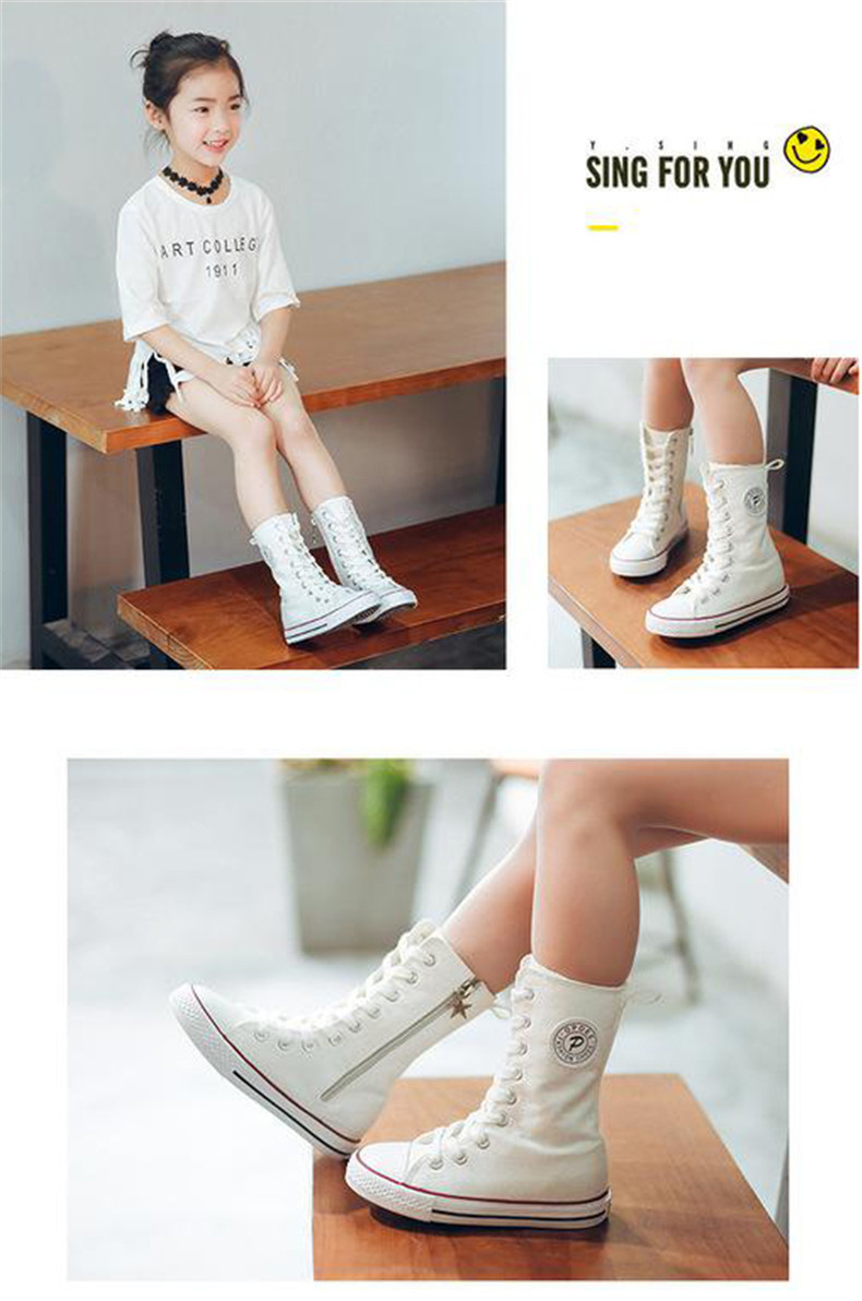 PINSEN 2019 Spring Autumn Shoes Girls Boots Cancas Childen Shoes For Girl Breathable Kids Boots For Girls Fashion Boots (11)