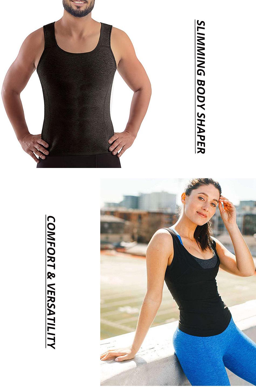 CXZD Sweat Shaper Vest for Men Women Slimming Belt Belly Slimming Vest Body Shaper Fat Burning Shaperwear Waist Traine Waist Sweat Corset (8)