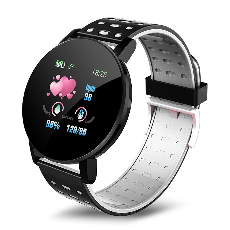 119 Plus Bluetooth Smartwatch Digital Smart Watch BT4.0 Waterproof Sport Watch IP67 Fitness Watch Color Touch Screen Free Shipping