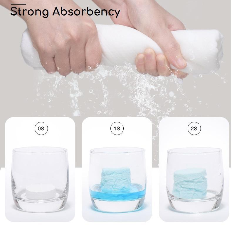 Compressed Towels,Portable Mini Compressed Coin Tissue for Camping Travel Sports Beauty Home Hand Wipes-Odor Free,Soft and Strong