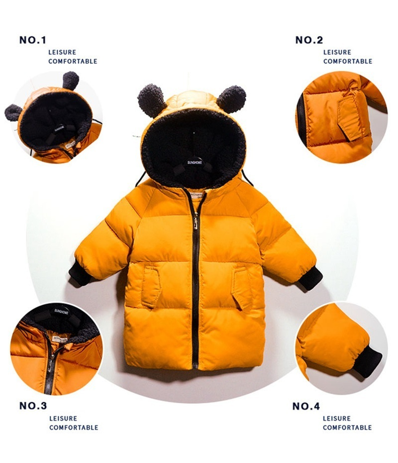 COOTELILI Winter Jackets For Girls Boys Winter Overalls For Girls Warm Coat Baby Boy Clothes Children Clothing 80-130cm (10)