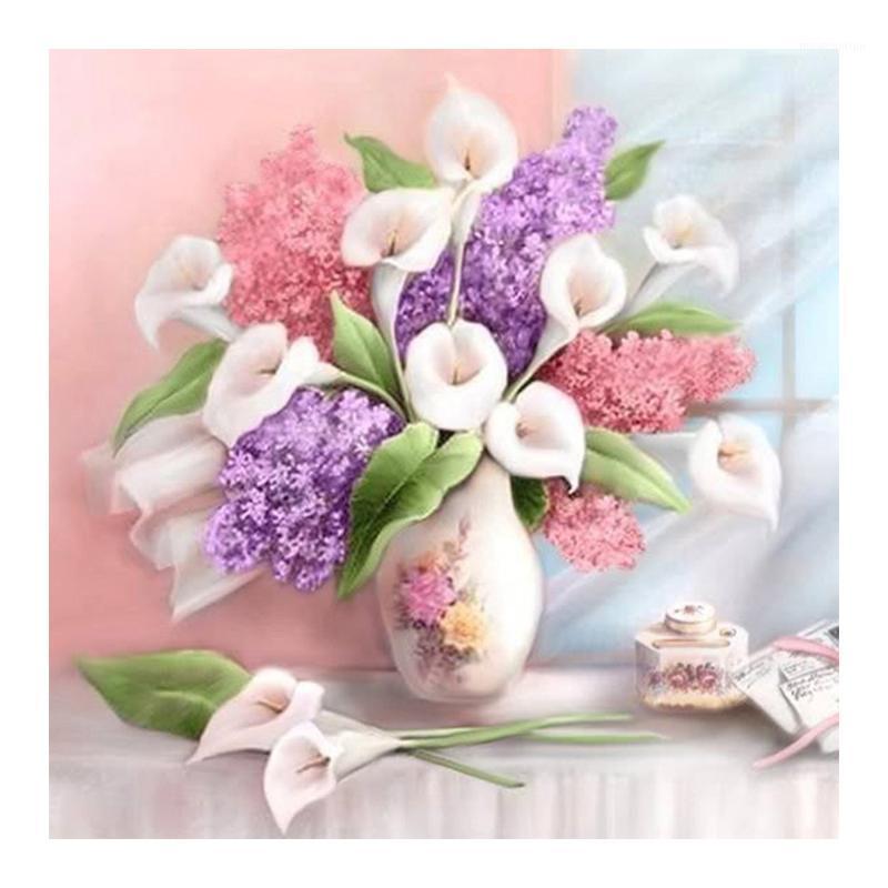 Canvas de toalla Lily lirios flores rosa 1,40m ancho