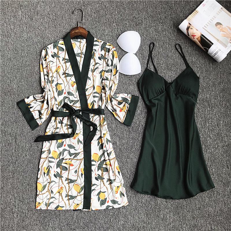 2 Robes Set Green
