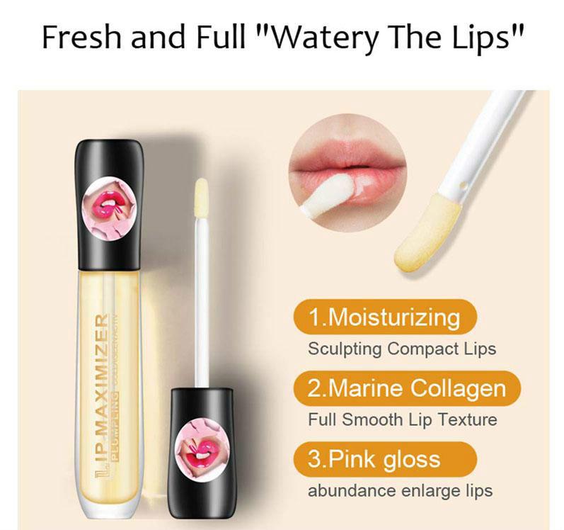 Makeup Lip Plumper Collagen Gloss Lip Care Serum Repairing Mask Reduce Fine Lines Increase Elasticity Moisturizing Lips plumping Kiss Beauty