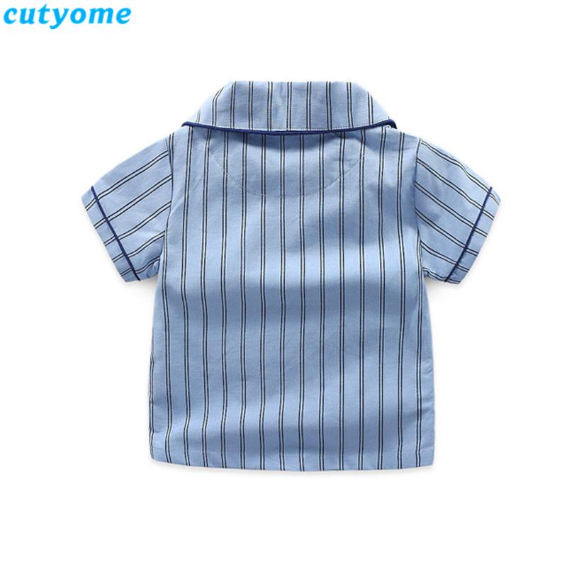 korean fashion toddler kids striped pajamas set07