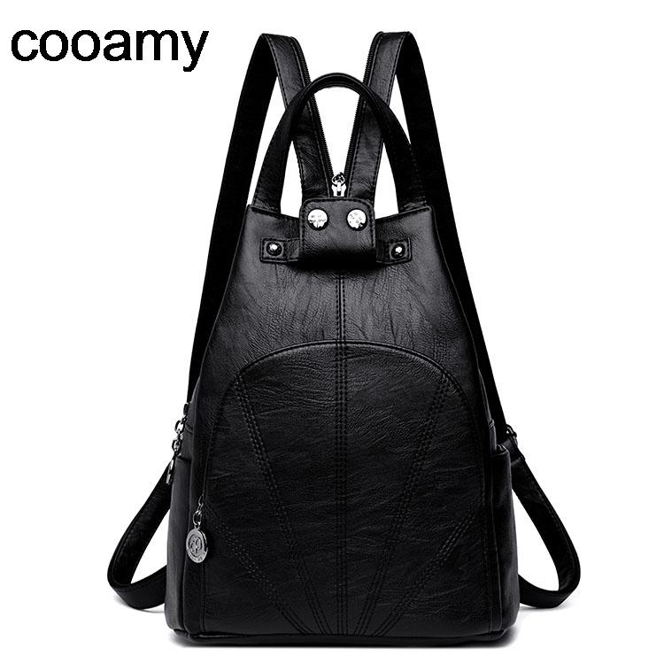 Fashion Woman Backpack PU Leather Female Travel Shoulder Bags High Quality Schoolbag Rucksack Elegant Mochilas Escolar Feminina