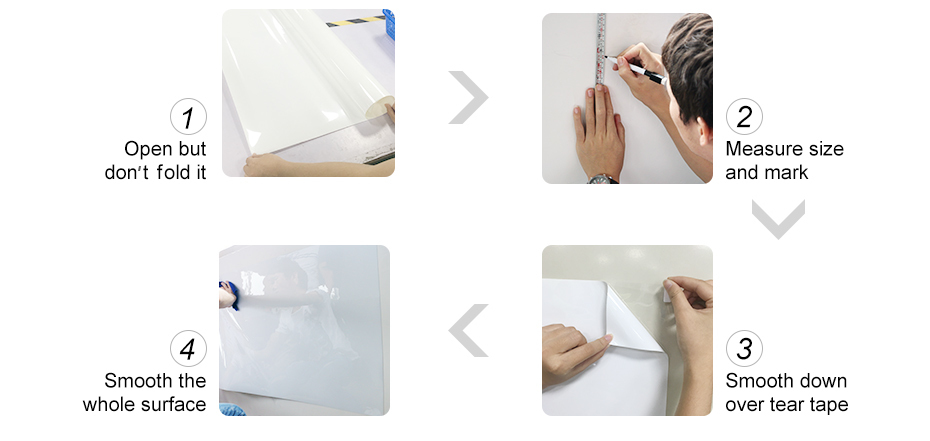 930_16 DIY Whiteboard Sticker Dry Erase Self-adhesive White Board Removable Drawing Writing Message Board For Office School Home