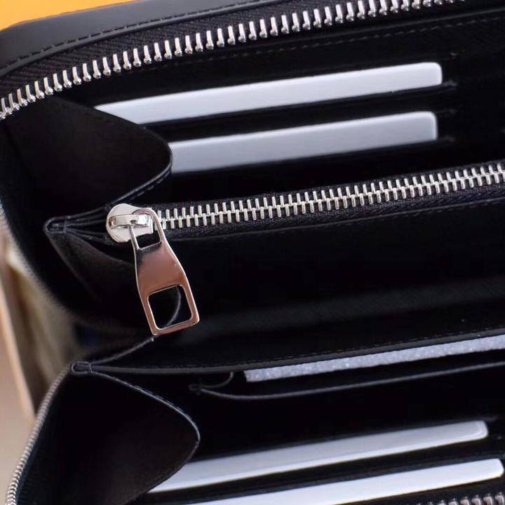 Classic style zipper luxurys clutch bag designers Men Women real leather Business long wallet clutch bags mens purses with box 23x15x 4cm